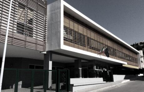 Edificio scolastico Marsicovetere PZ travi tralicciate